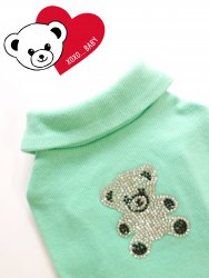 <img class='new_mark_img1' src='//img.shop-pro.jp/img/new/icons30.gif' style='border:none;display:inline;margin:0px;padding:0px;width:auto;' />Bling Bling Kuma T【Mint】