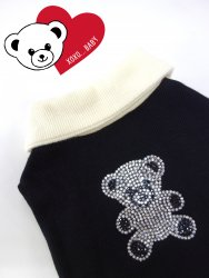 <img class='new_mark_img1' src='https://img.shop-pro.jp/img/new/icons30.gif' style='border:none;display:inline;margin:0px;padding:0px;width:auto;' />Bling Bling Kuma T【Black】