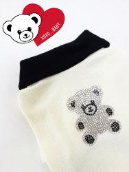 <img class='new_mark_img1' src='https://img.shop-pro.jp/img/new/icons30.gif' style='border:none;display:inline;margin:0px;padding:0px;width:auto;' />Bling Bling Kuma T【Ivory】