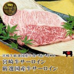 【食べ比べ】[ステーキ]宮崎牛サーロイン160g+厳選国産牛サーロイン160g