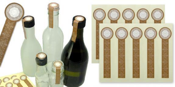 未開封シール mini  封緘紙 シール 酒瓶・タレ瓶・スパイス瓶に