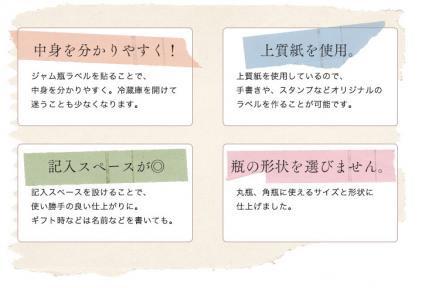 ジャム瓶用ラベルシール(中)3色セット【画像3】