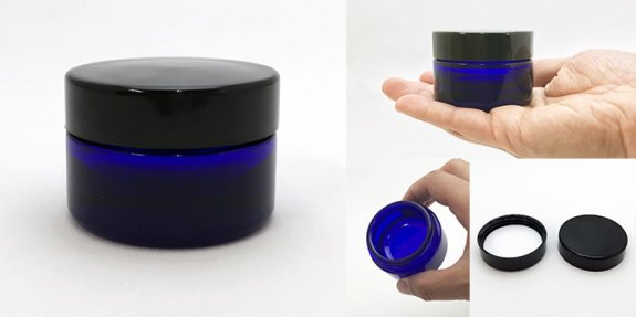 クリーム瓶 H-30クリーム 黒CAP