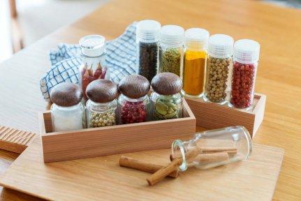 国産天然杉使用スパイスラック※瓶は商品には含まれません※【画像3】
