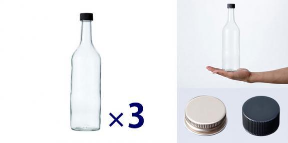 ワイン720 PPL 透明 -お得な3本セット-