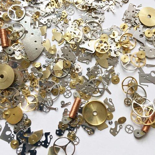 2d5a7c2e01 本物の時計部品・パーツ5g!歯車・留具・針…部品色々 - ハンドメイド・レジン材料・アクセサリーパーツの通販サイト collage