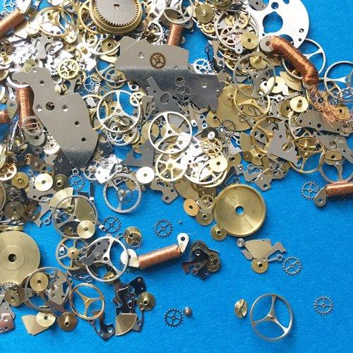 577b9b9267 本物の時計部品・パーツ5g!歯車・留具・針…部品色々 - ハンドメイド ...