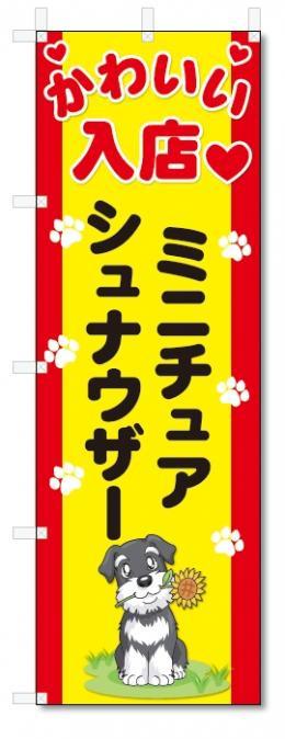 のぼり旗 ミニチュアシュナウザー (W600×H1800)DOG、犬、ペットショップ