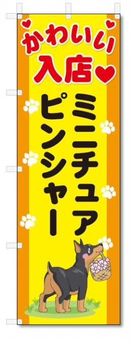 のぼり旗 ミニチュアピンシャー (W600×H1800)DOG、犬、ペットショップ