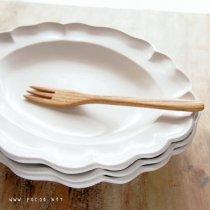白い西洋楕円深皿 大【よしざわ窯】