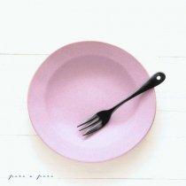 【よしざわ窯】プラム ラウンドリム深小皿