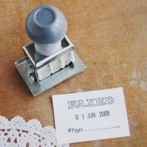 ファックスド(fax済)スタンプ