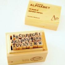 ウッドボックススタンプ アルファベットS