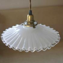ミルクグラスランプシェード フレンチ