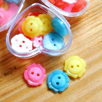 カーリーコレクション  キャンディローズボタン