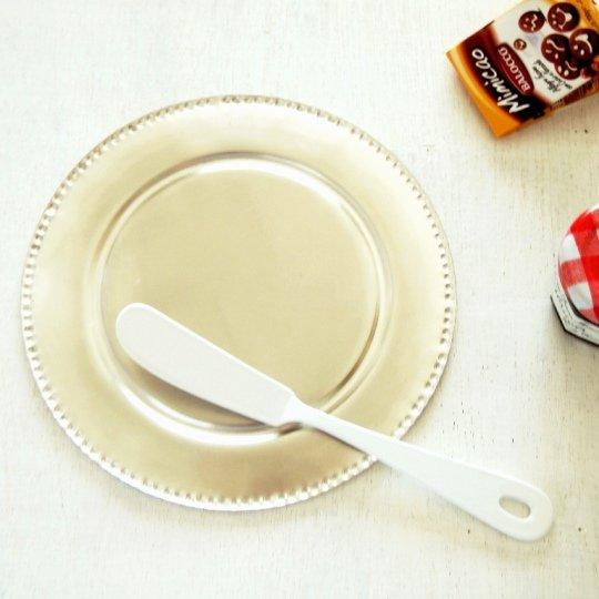 日本の職人さん/白い琺瑯ブラン/バターナイフ