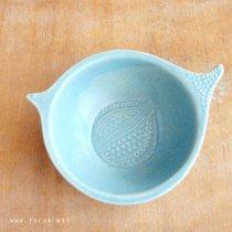 ブルーグレー 鳥鉢【よしざわ窯】