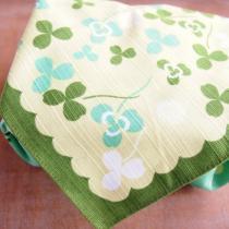 綿風呂敷*お弁当包み 日本のかたち クローバー