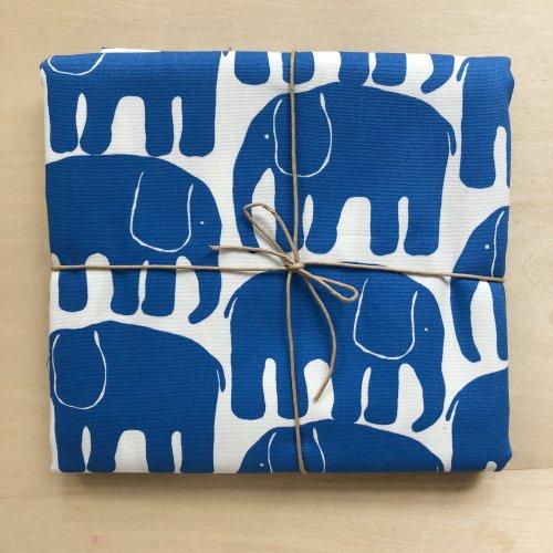 象の布_ブルー(50cm)