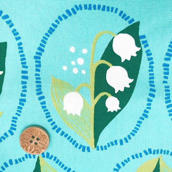 すずらんの布 オックス 水色(50cm)