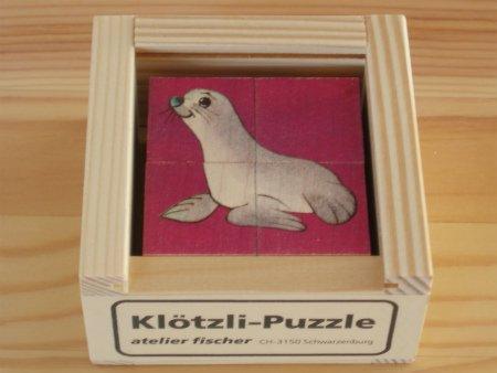 6面体パズル 4ピースミニアニマルカラー
