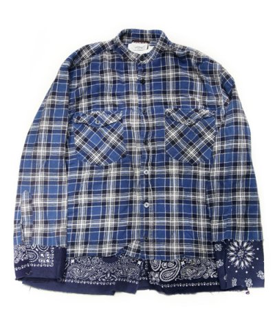 Old Park / BANDANA TAIL SHIRT FLANNEL