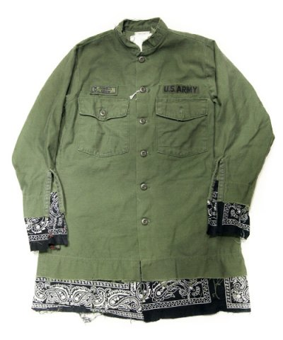 Old Park / BANDANA TAIL SHIRT MILITARY