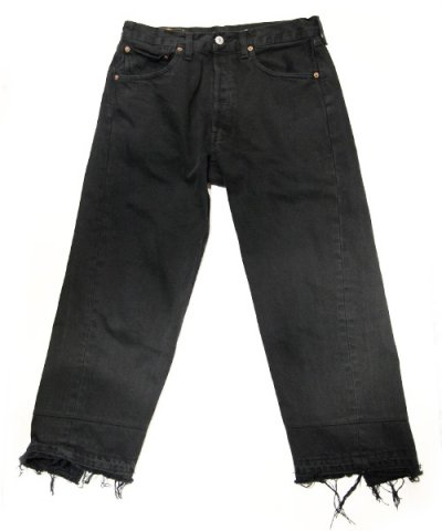 Old Park / WIDE JEANS -Black-