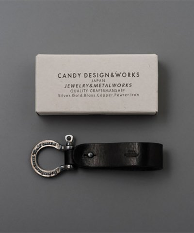 "CANDY DESIGN&WORKS / Herbie Black Leatherstrap ""Black nickel"""