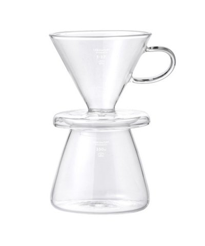 PUEBCO / GLASS COFFEE DRIPPER SET