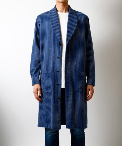 FDMTL / INDIGO SHAWL COLLAR LONG SHIRT