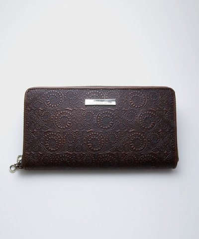 GARNI / '16 Vine Pattern Zip Long Wallet