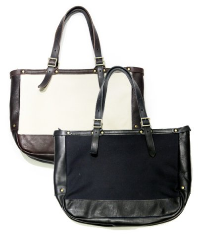 THE SUPERIOR LABOR / GAZETTE LEATHER TOTE BAG:eveNIF Limited