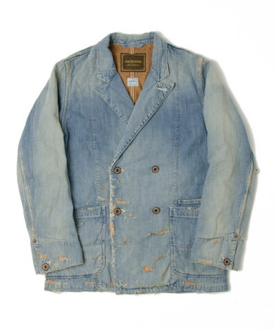 ANACHRONORM / DAMAGED DENIM LAPEL JACKET