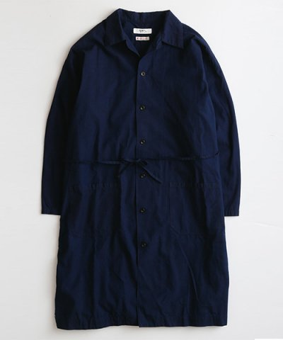 FDMTL / INDIGO LONG SHIRT JACKET