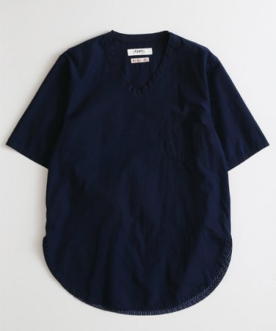 FDMTL / INDIGO LONG PULL SHIRT