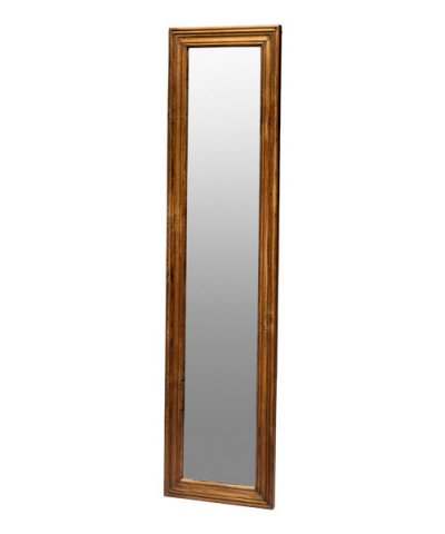 PUEBCO / TEAK WOOD FIGURE MIRROR