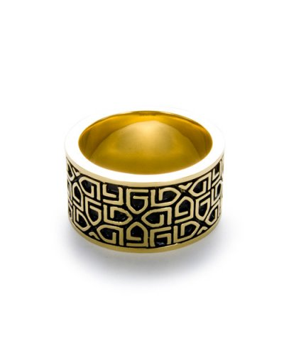 GARNI / K10 G Pattern Ring - L