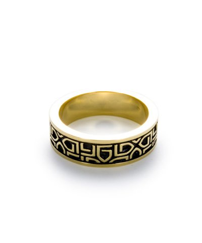 GARNI / K10 G Pattern Ring - S #17.#19.#21