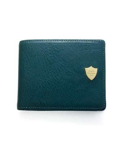 GARNI / Shield Fold Wallet - BLUE