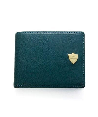 GARNI / Shield Fold Wallet - BLUE
