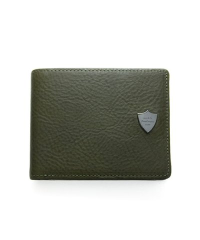 GARNI / Shield Fold Wallet - KHAKI