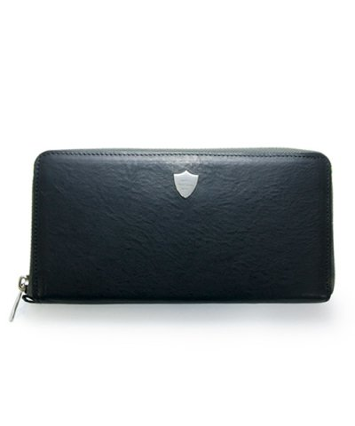 GARNI / Shield Zip Long Wallet - BLACK