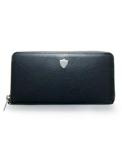 GARNI / Shield Zip Long Wallet - BLACK