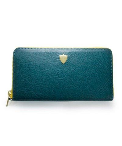 GARNI / Shield Zip Long Wallet - BLUE