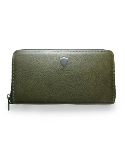 GARNI / Shield Zip Long Wallet - KHAKI