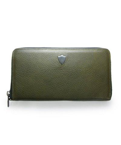 GARNI / Shield Zip Long Wallet - KHAKI