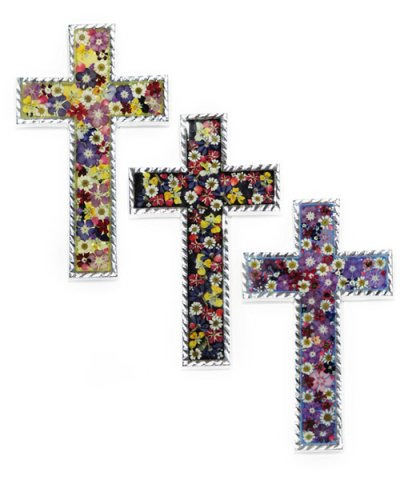 IMPORT / FLOWER CROSS 13×22