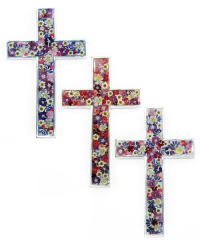 IMPORT / FLOWER CROSS 14×24