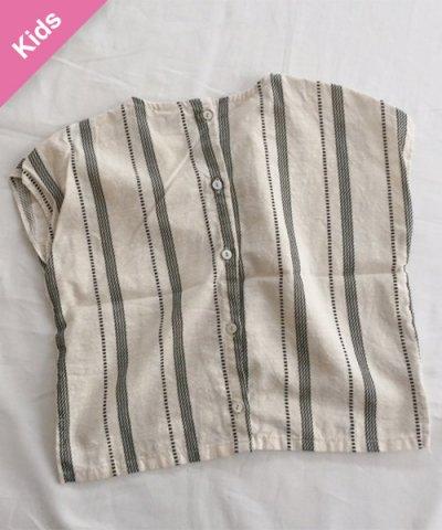 Children -Baby&Kids- / MARVI バックボタンシャツ :キナリ
